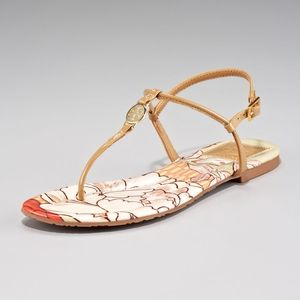 Tory Burch Emmy Patent Leather Print Sandals 9
